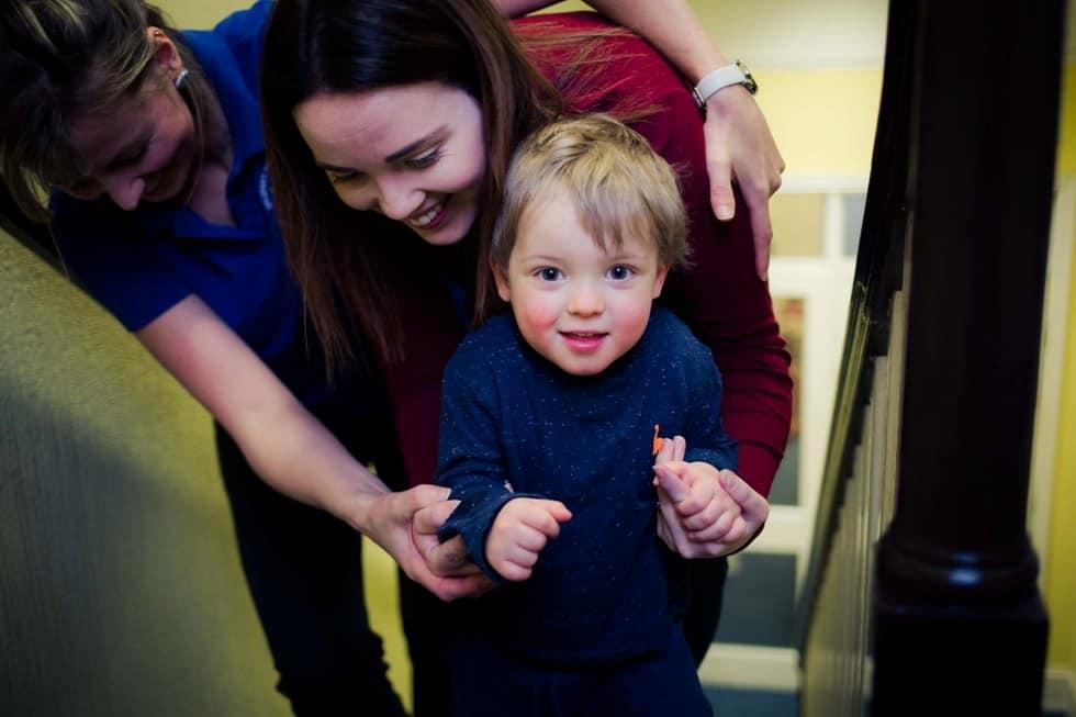 cerebral palsy cymru - family and therapist